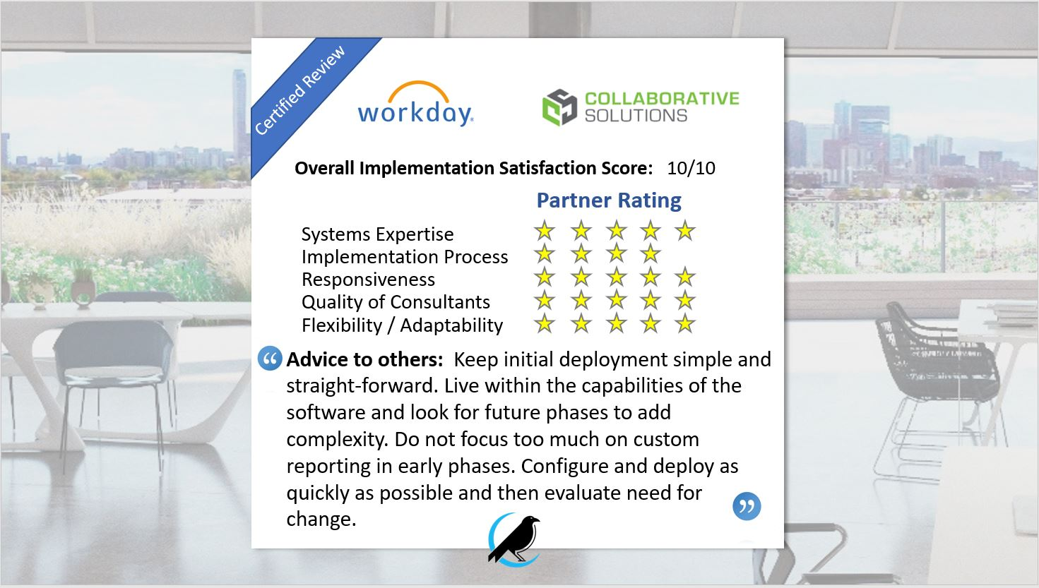Featured Review: Workday Deployment - Raven Intel