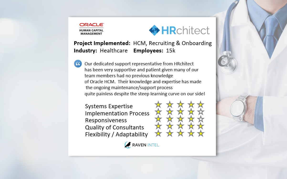 Featured Review: Oracle HCM & Recruiting/Onboarding - Raven